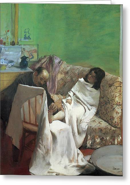 The Doctor Greeting Cards - The Pedicure Greeting Card by Edgar Degas