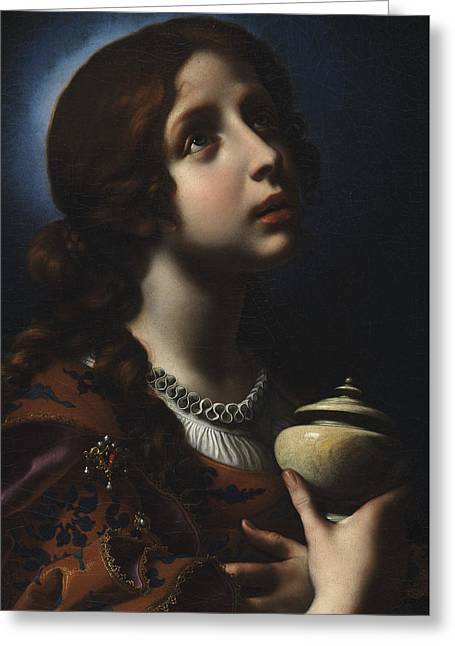 The Penitent Magdalene Greeting Card by Carlo Dolci