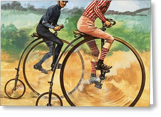 The Penny Farthing Greeting Card by Peter Jackson