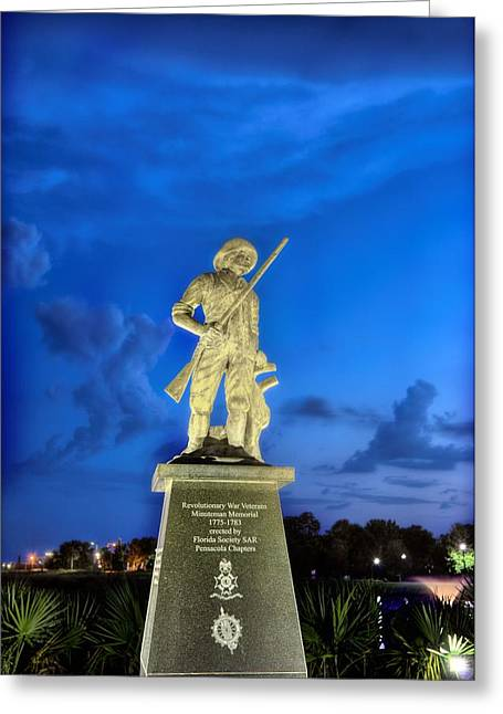Florida Panhandle Greeting Cards - The Pensacola Revolutionary War Memorial. Greeting Card by JC Findley