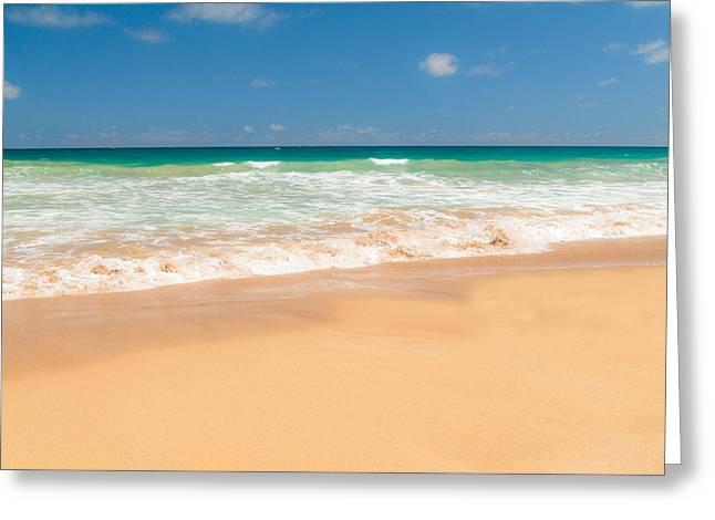 The Perfect Beach - Kapaa Kauai Hawaii Greeting Card by Brian Harig