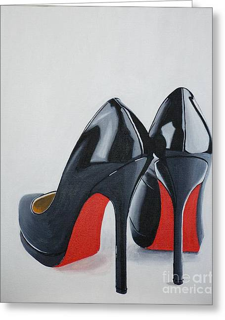 High Heeled Paintings Greeting Cards - The Perfect Pair Greeting Card by Devan Gregori