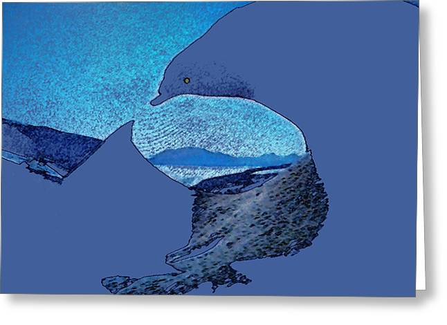 print Paintings Greeting Cards - The Perfect Wave Greeting Card by Colette V Hera  Guggenheim