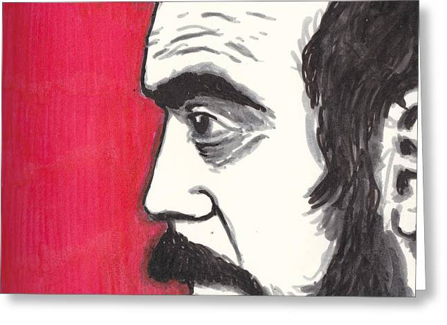 Film Maker Drawings Greeting Cards - The Perfectionist Greeting Card by Jim Valentine