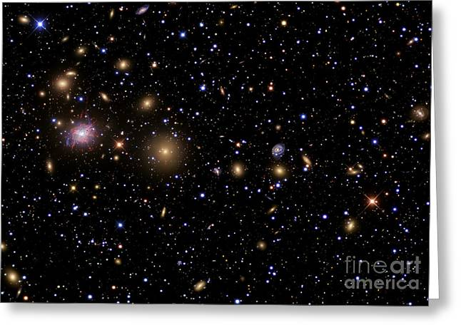 Constellations Greeting Cards - The Perseus Galaxy Cluster Greeting Card by R Jay GaBany