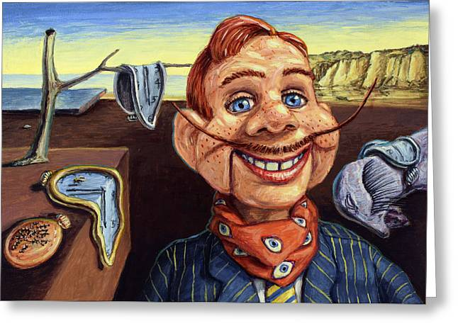 Puppets Greeting Cards - The Persistence of Doody Greeting Card by James W Johnson