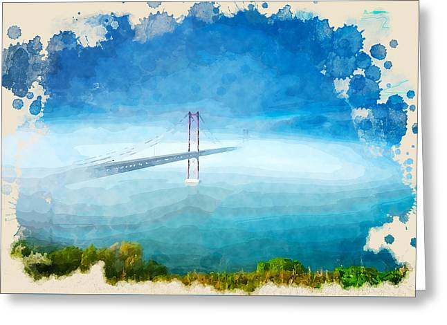 Usa Digital Art Greeting Cards - The Perspective Greeting Card by Don Kuing
