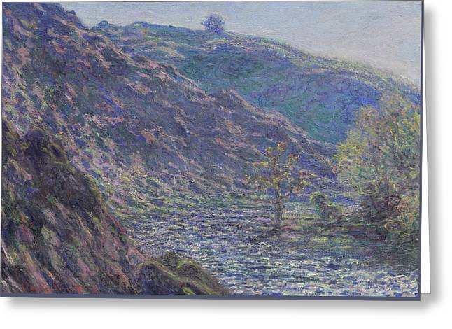 The Petite Creuse River Greeting Card by Claude Monet
