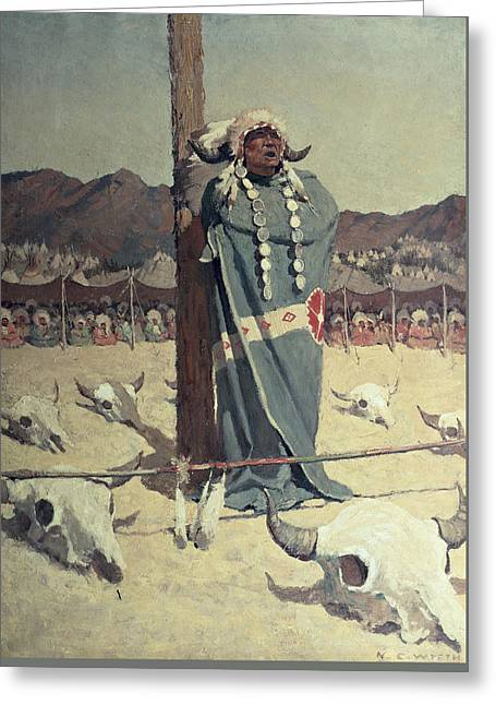 Healer Greeting Cards - The Petition Greeting Card by Newell Convers Wyeth