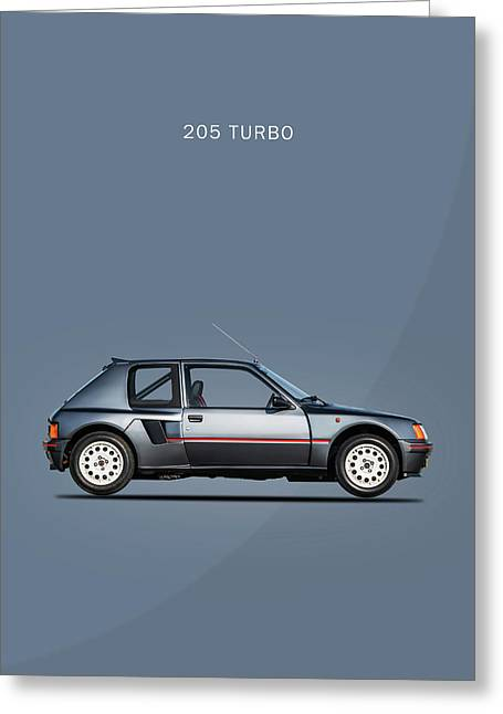 The Peugeot 205 Turbo Greeting Card by Mark Rogan