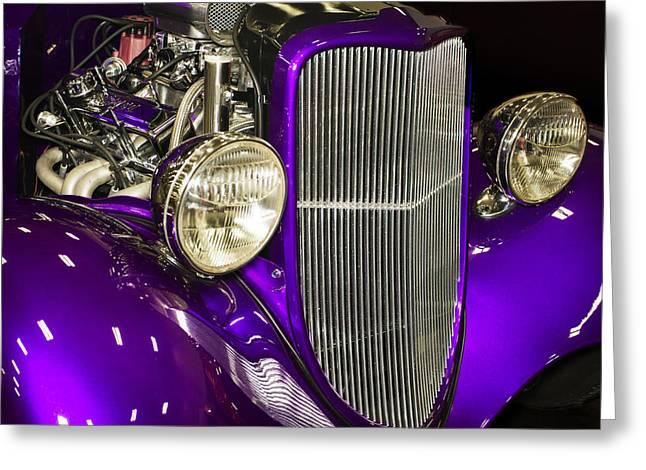 Purple V8 Greeting Cards - The Phantom Greeting Card by Alan Hausenflock