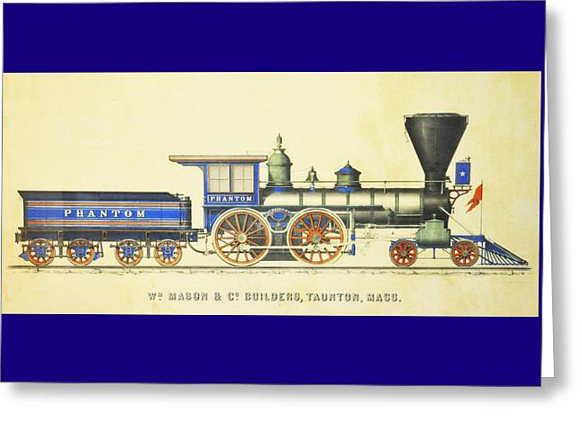 Recently Sold -  - Iron Greeting Cards - The Phantom Greeting Card by The Baltimore and Ohio Railroad