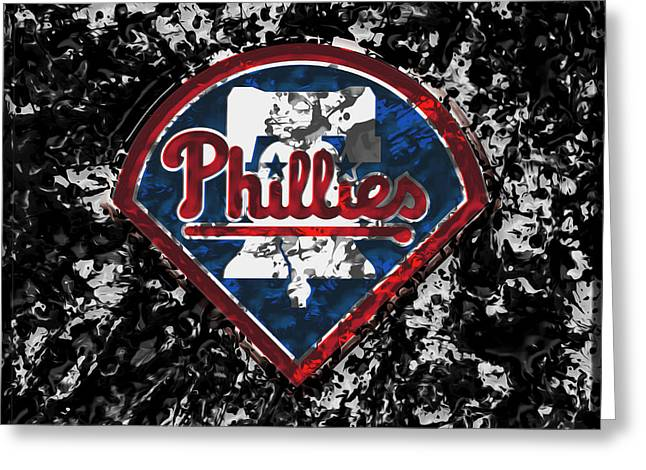 The Philadelphia Phillies 1a Greeting Card by Brian Reaves