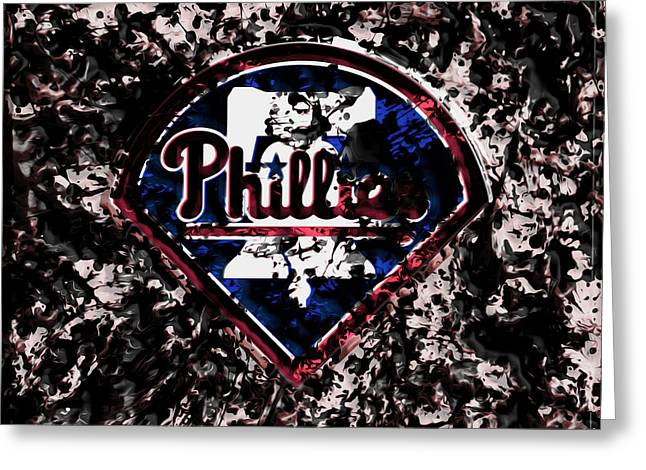 The Philadelphia Phillies Greeting Card by Brian Reaves