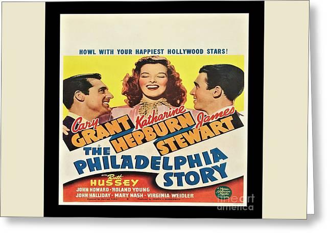 The Philadelphia Story Vintage Movie Poster Greeting Card by Spencer McKain