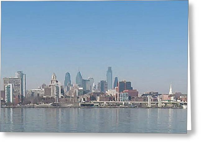 Philadelphia Digital Greeting Cards - The Philadelphia Waterfront Greeting Card by Bill Cannon