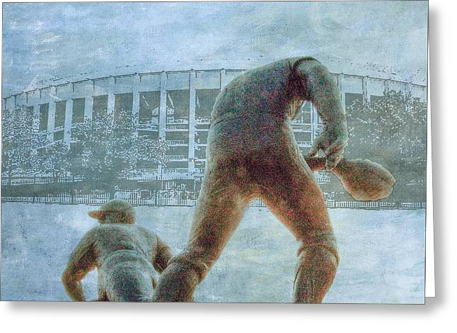 The Phillies At Veterans Stadium Greeting Card by Bill Cannon