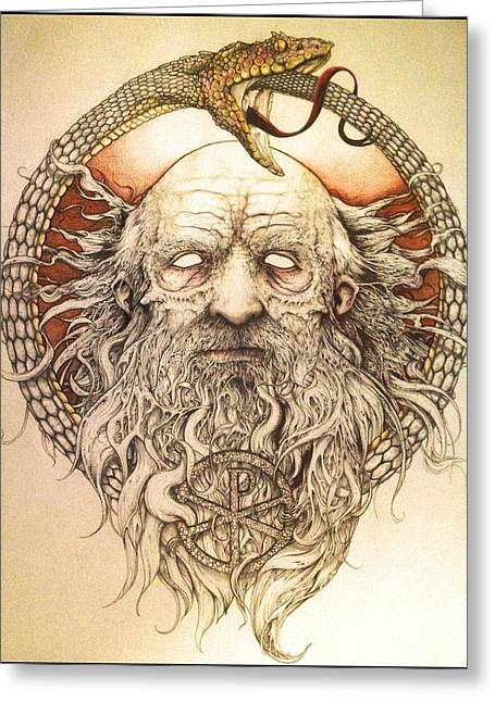 Plato Drawings Greeting Cards - The Philosopher Greeting Card by Cliff Franks