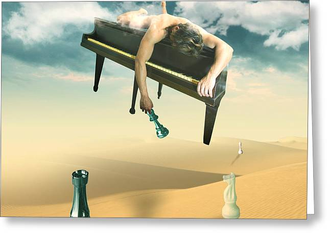 Optimism Digital Greeting Cards - The Pianist  Greeting Card by Mark Ashkenazi