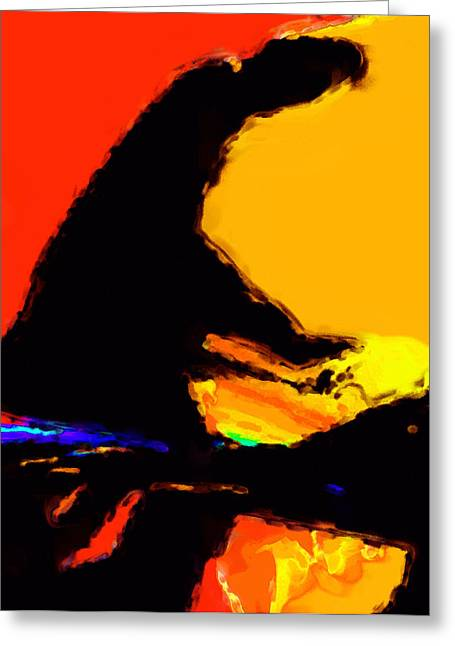 Abstract Digital Digital Art Greeting Cards - The Pianist Greeting Card by Richard Rizzo