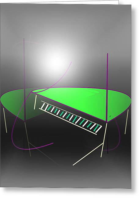 Abstract Expressionist Digital Greeting Cards - The Piano Greeting Card by John Krakora