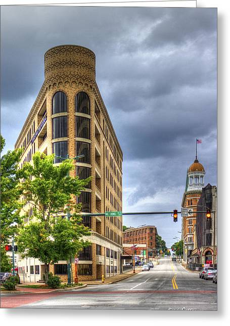 The Pie Stops Here One Central Plaza Chattanooga Tn Greeting Card by Reid Callaway