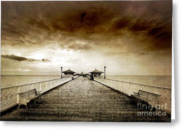 Pier Greeting Cards - the pier at Llandudno Greeting Card by Meirion Matthias