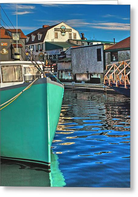 Docked Boats Greeting Cards - The Pier Greeting Card by Joann Vitali