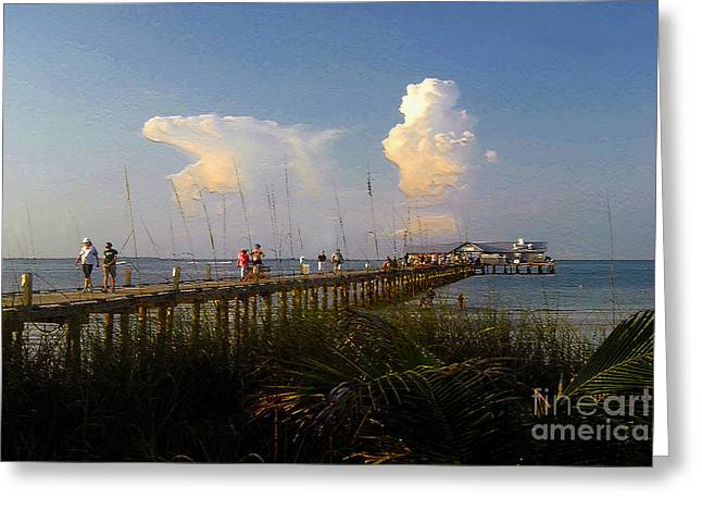 Anna Maria Island Greeting Cards - The Pier on Anna Maria Island Greeting Card by David Lee Thompson