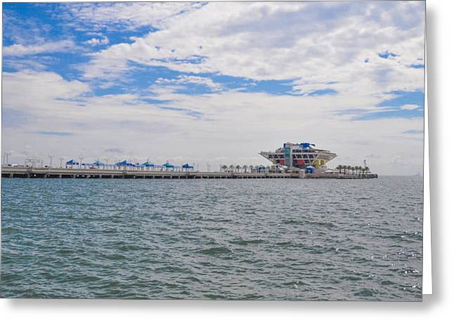 St Petersburg Florida Greeting Cards - The Pier - St. Petersburg Florida - Panorama Greeting Card by Bill Cannon