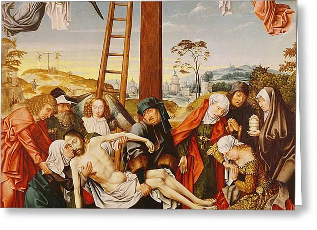 The Pieta Greeting Card by Rogier van der Weyden