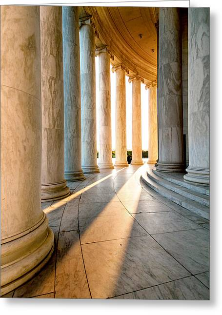 Declaration Of Independance Greeting Cards - The Pillars of D.C. Greeting Card by Greg Fortier