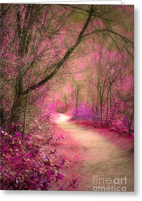 Roadway Greeting Cards - The Pink Boulevard Greeting Card by Tara Turner