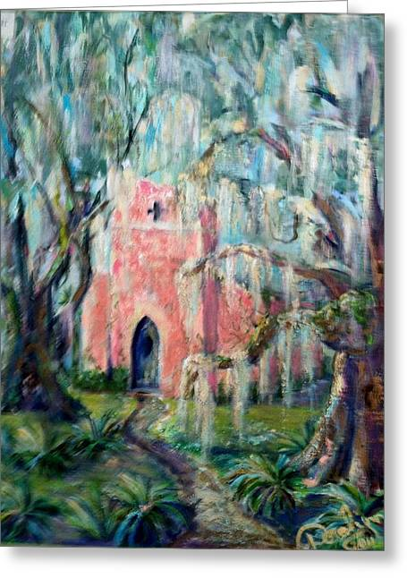 Doralynn Lowe Greeting Cards - The Pink Chapel Greeting Card by Doralynn Lowe