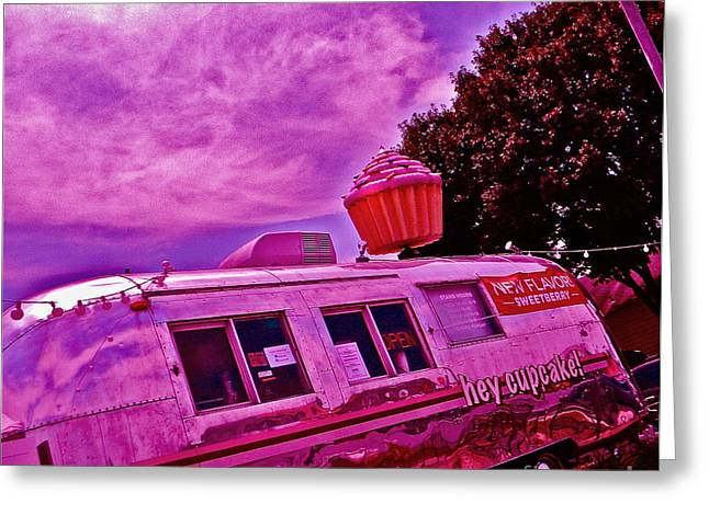 South Congress Greeting Cards - The Pink Cupcake Paradise Trailer Greeting Card by Chuck Taylor