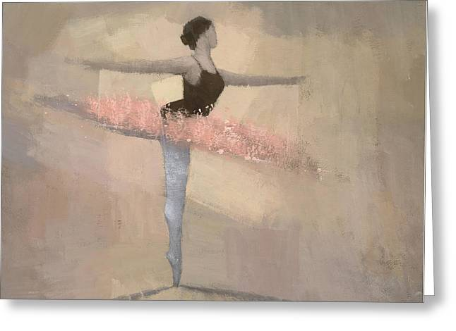 The Pink Tutu Greeting Card by Steve Mitchell