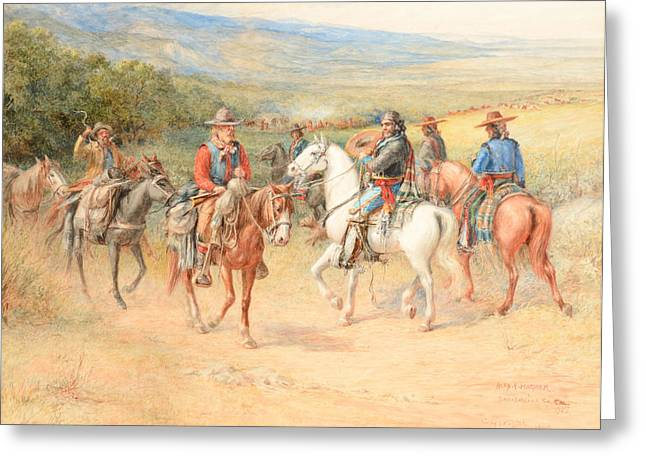 Alexander Valley Greeting Cards - The Pioneer Greeting Card by Celestial Images