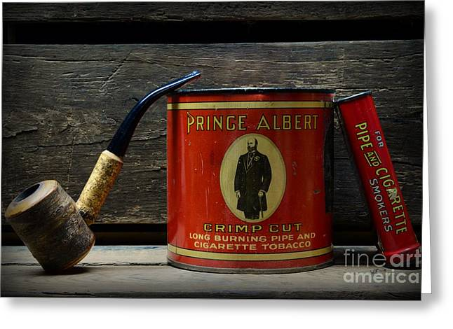 The Pipe Smoker Greeting Card by Paul Ward