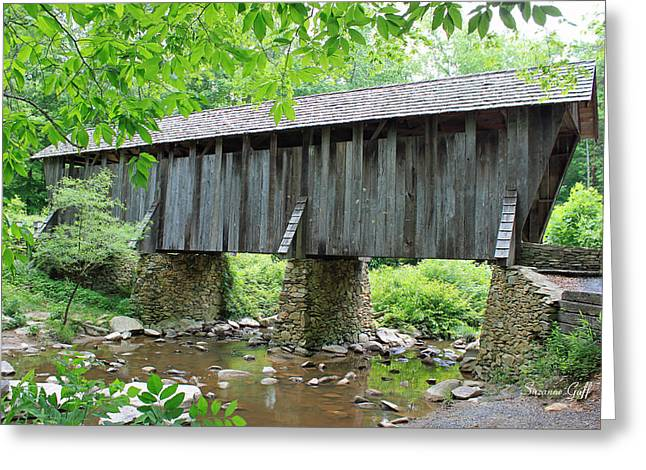Pisgah Greeting Cards - The Pisgah Covered Bridge Greeting Card by Suzanne Gaff