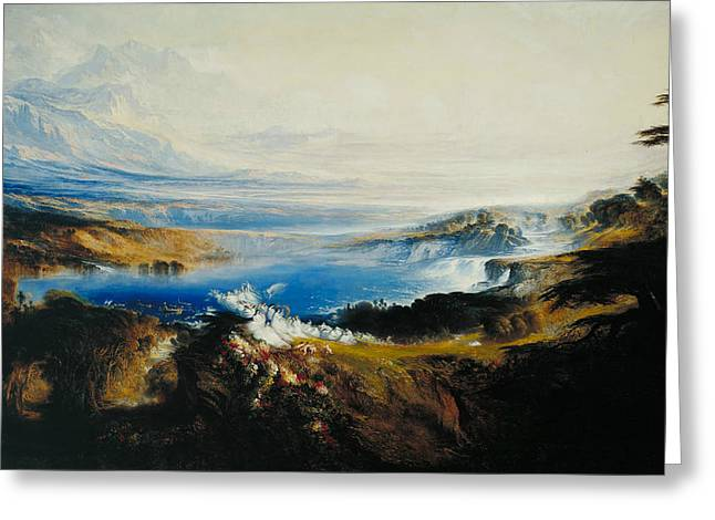 The Plains Of Heaven Greeting Card by John Martin