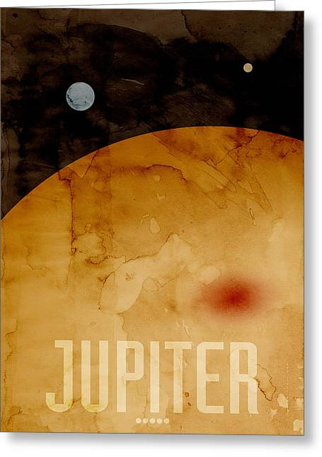 Milky Way Greeting Cards - The Planet Jupiter Greeting Card by Michael Tompsett