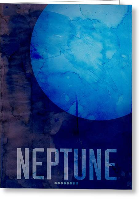 Milky Way Greeting Cards - The Planet Neptune Greeting Card by Michael Tompsett