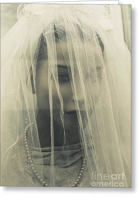 The Plastic Bride Greeting Card by Jorgo Photography - Wall Art Gallery
