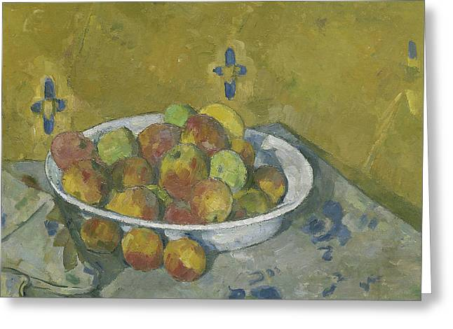 The Plate Of Apples Greeting Card by Paul Cezanne