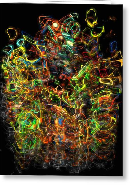 Geometric Digital Art Greeting Cards - The Play Of Light And Color Greeting Card by Jack Zulli