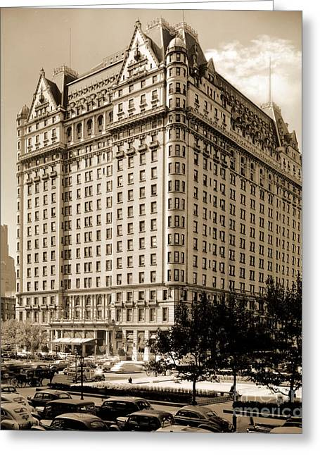 Old City Prints Greeting Cards - The Plaza Hotel Greeting Card by Henry Janeway Hardenbergh