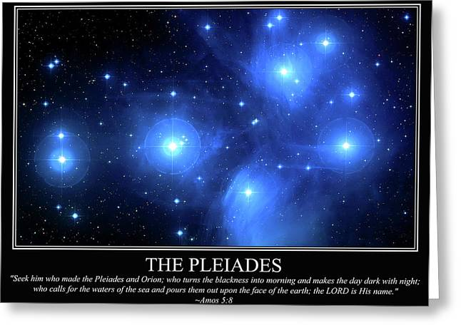 Pleiades Greeting Cards - The Pleiades Greeting Card by Our Creator