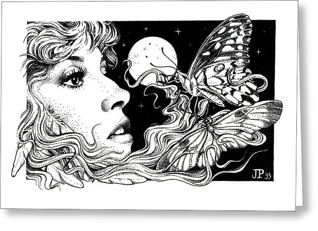 Stevie Nicks Greeting Cards - The Poet in my Heart Greeting Card by Johanna Pieterman