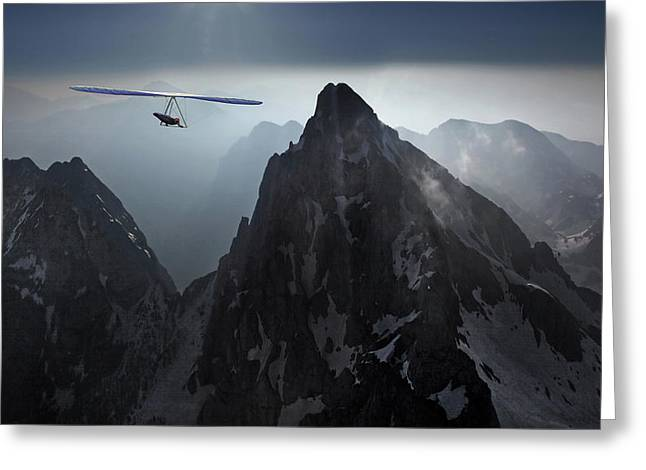 Flying Greeting Cards - The Point  /  Me And My Arrow (song By Harry Nilsson) Greeting Card by Matjaz Cater