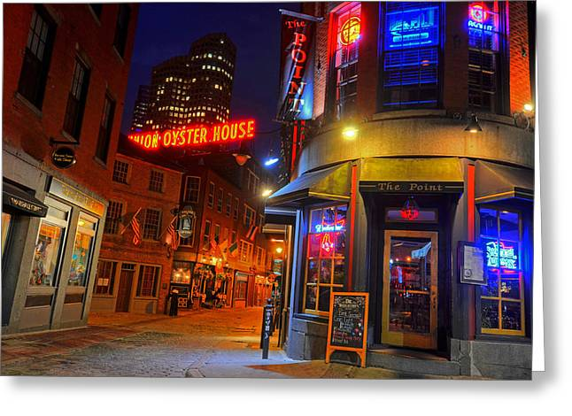 The Point Marshall Street Boston Ma Greeting Card by Toby McGuire